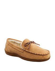 Dockers Solid Color Moccasin Slippers