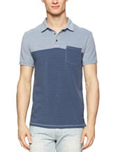 Calvin Klein Pique Color Block Polo