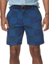 Chaps Men's Big & Tall Printed Patchwork Shorts