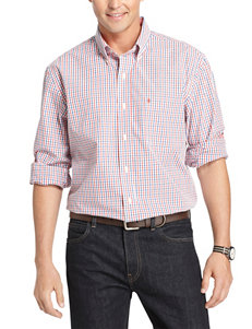 Izod Red Casual Button Down Shirts
