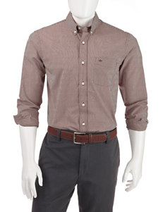 Dockers Merlot Casual Button Down Shirts