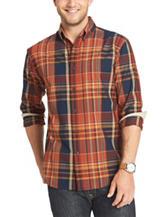 Arrow Maple Spice Madras Woven Sport Shirt
