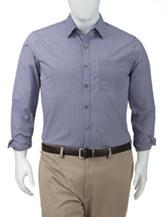 Van Heusen Men's Big & Tall Ultimate Blue Shepherd's Check Woven Shirt