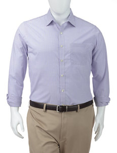 Van Heusen Men's Big & Tall Ultimate Blue Graph Check Woven Shirt