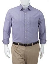 Van Heusen Men's Big & Tall Ultimate Traveler No-Iron Stretch Blue Tattersall Check Woven Shirt