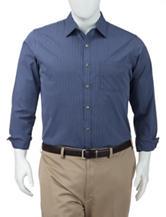 Van Heusen Men's Big & Tall Ultimate Traveler No-Iron Stretch Blue Depths Striped Woven Shirt