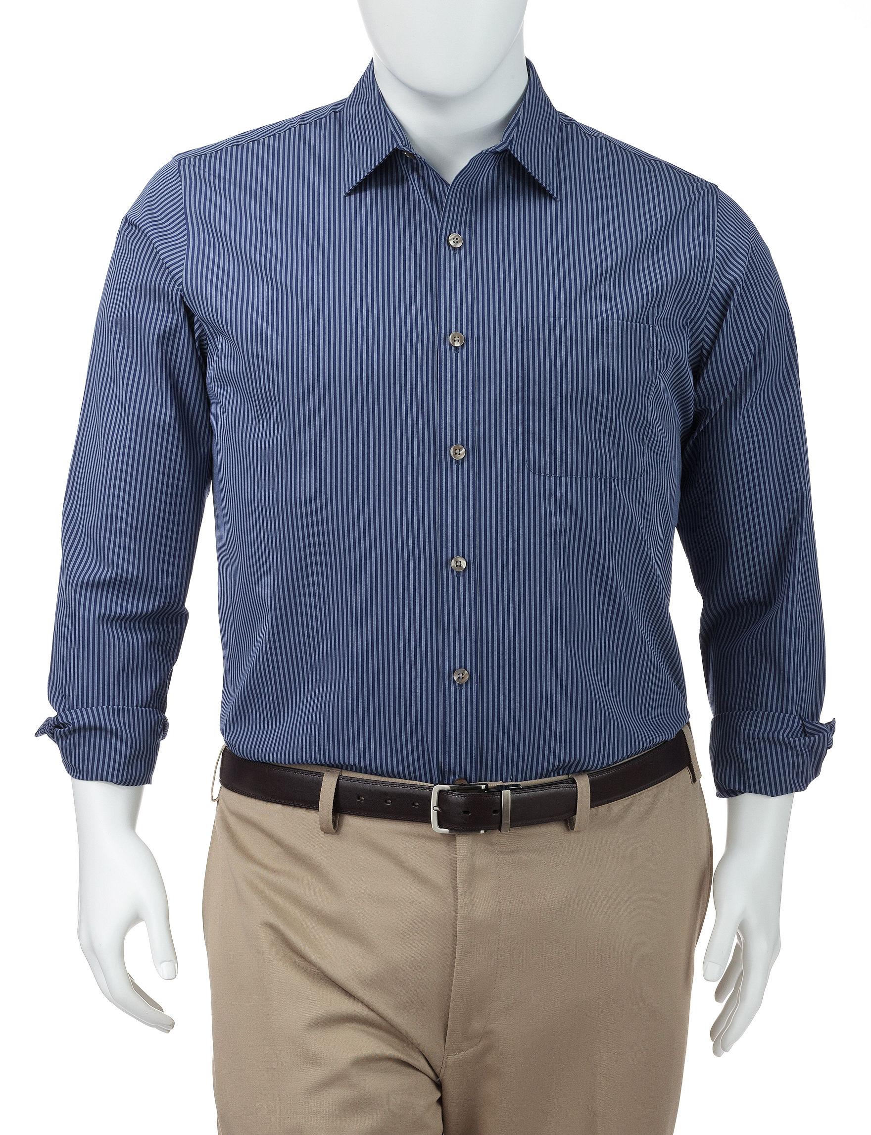 Van Heusen Blue Depths Casual Button Down Shirts