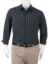 Van Heusen Men's Big & Tall Solid Color Night Striped Woven Shirt