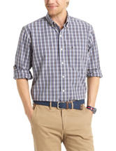 Izod Mini Plaid Essential Woven Shirt