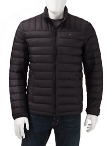 Tommy Hilfiger Black Puffer & Quilted Jackets