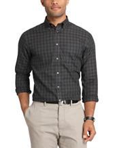 Van Heusen Men's Big & Tall Solid Color Stencil Plaid Woven Sport Shirt