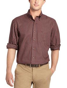 Arrow Burgandy Casual Button Down Shirts