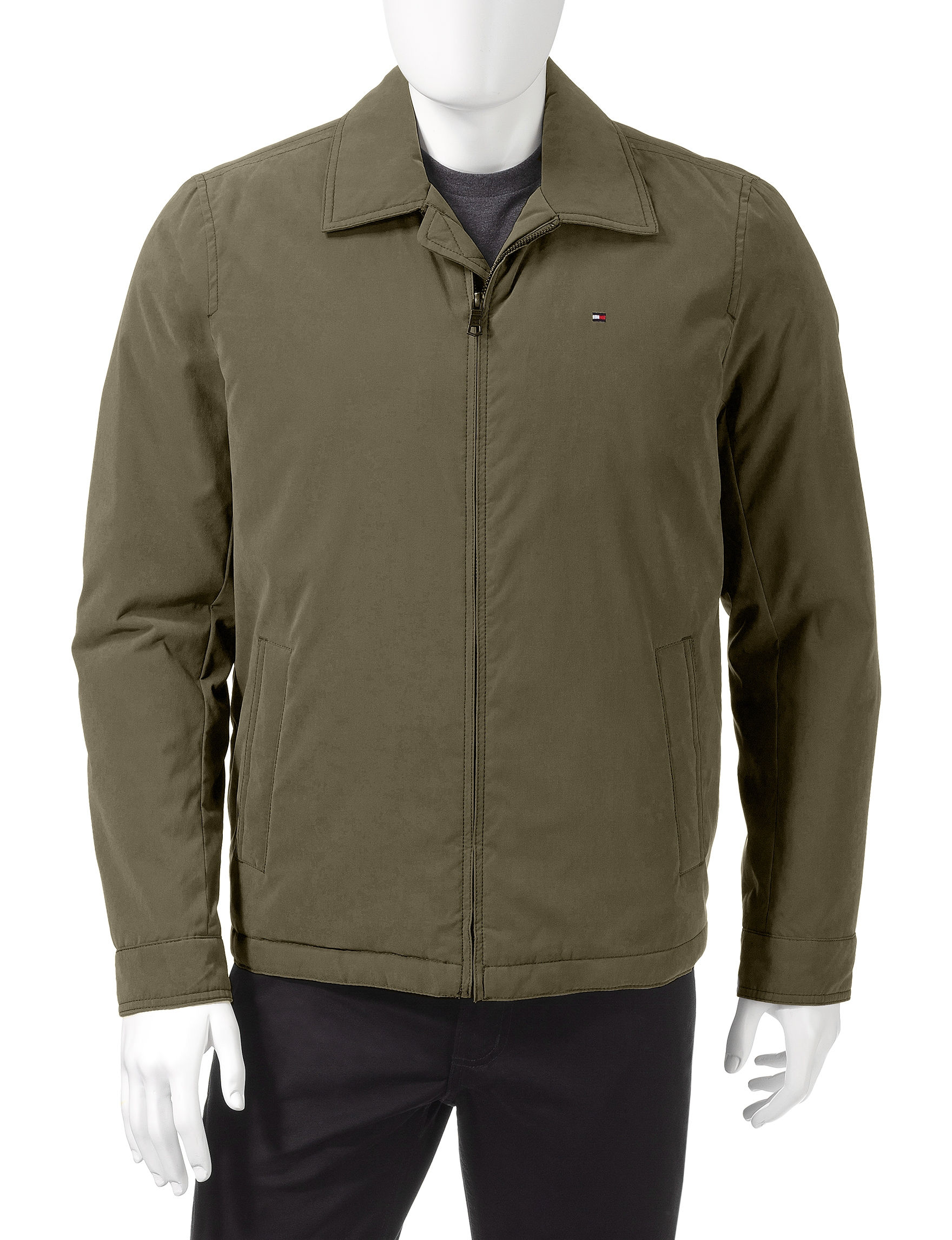 Tommy Hilfiger Olive Insulated Jackets