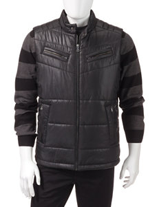 Sean John Black Puffer & Quilted Jackets