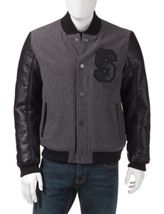 Sean John Heather Grey Puffer & Quilted Jackets