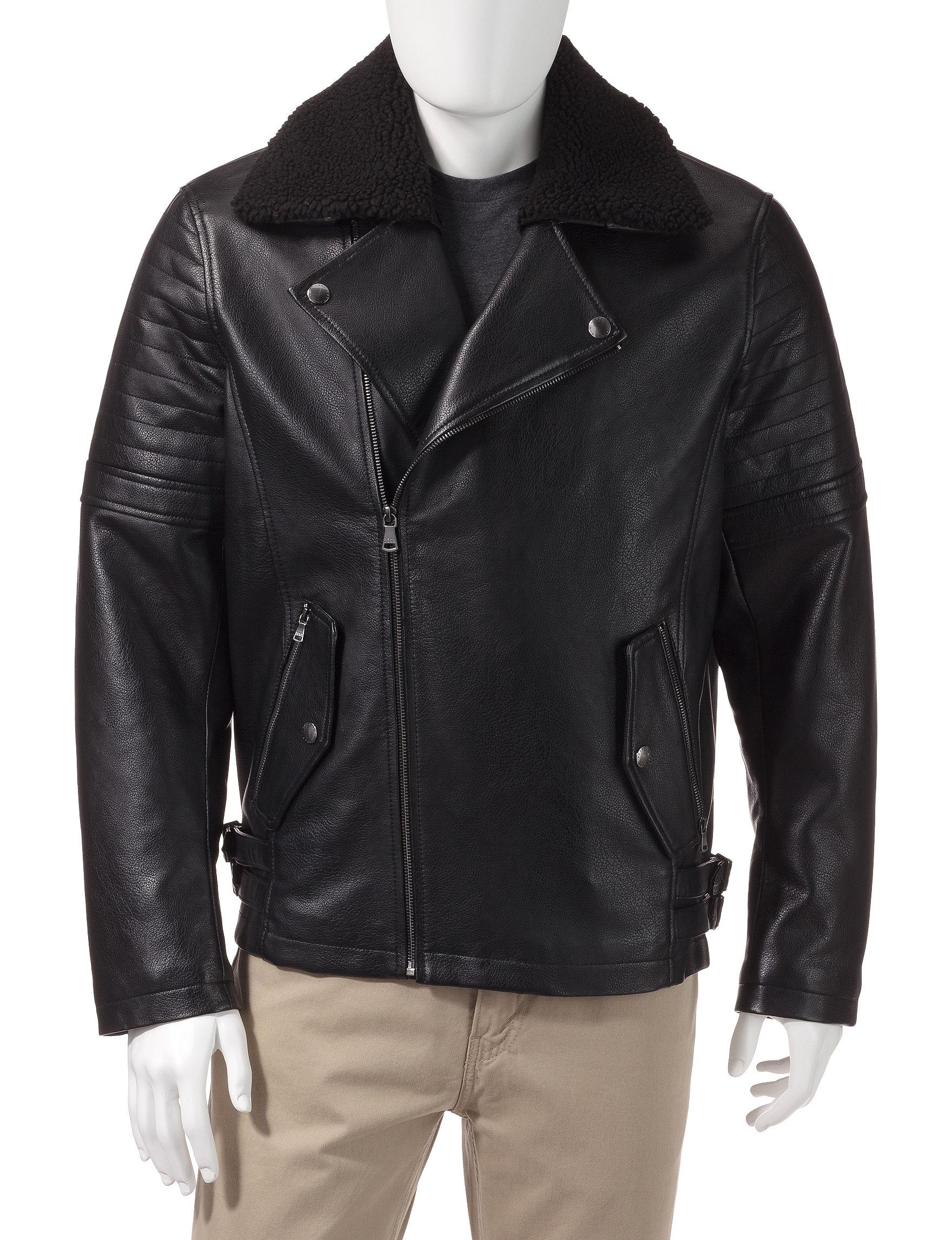 Sean John Black Bomber & Moto Jackets