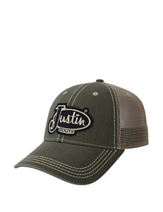 Justin Boots Olive Military Green Hats & Headwear