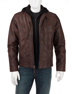 Calvin Klein Brown Hooded Bomber Jacket