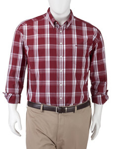Dockers Biking Red Casual Button Down Shirts