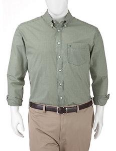 Dockers Dark Green Casual Button Down Shirts
