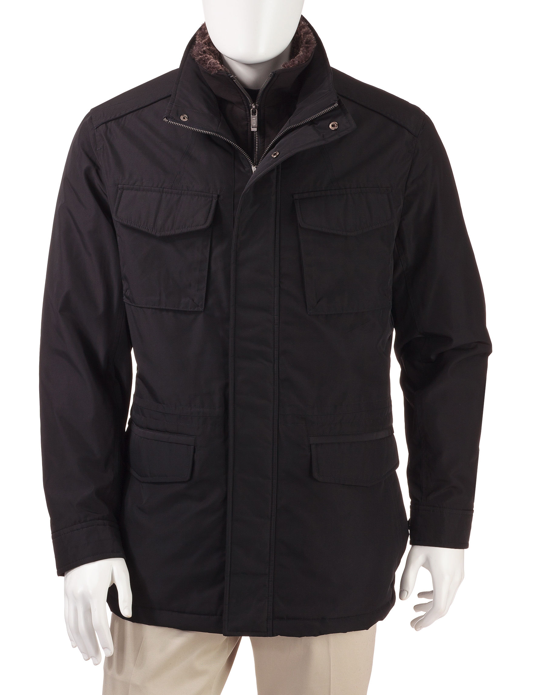 Weatherproof Black Insulated Jackets