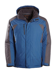 Hawke & Co. Blue / Black Puffer & Quilted Jackets