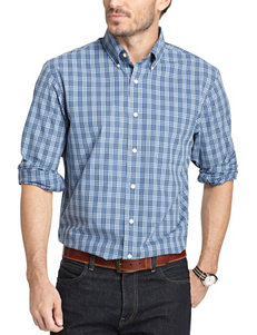 Arrow Patina Blue Casual Button Down Shirts