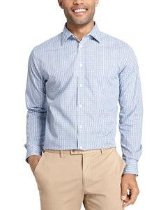 Van Heusen Blue Vista Blue Dress Shirts