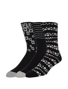 Joe's 3-pk. Black & Gray Printed Crew Socks