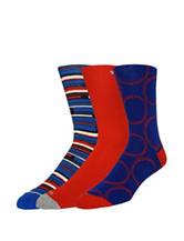 Joe's 3-pk. Red & Blue Printed Crew Socks