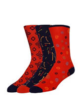 Joe's 3-pk. Red & Navy Printed Crew Socks