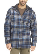 G.H. Bass Hooded Flannel Shirt