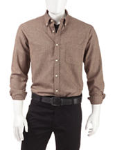 Sun River Solid Color Brown Flannel Shirt