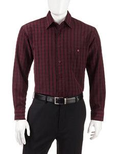 Haggar Purple Casual Button Down Shirts