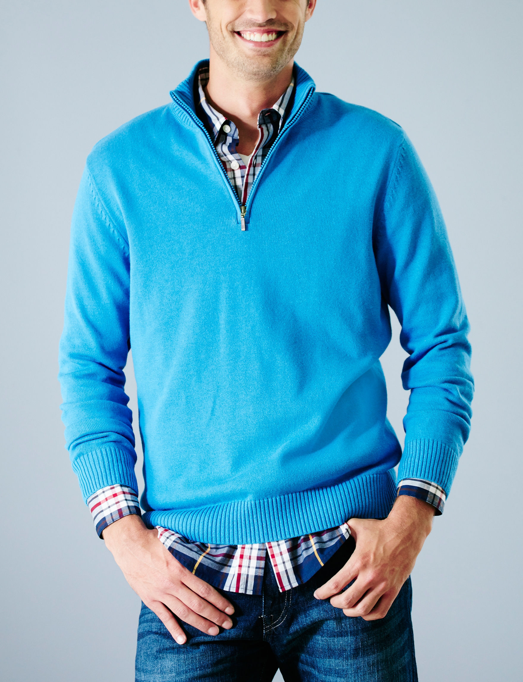 Sun River Blue Pull-overs Sweaters