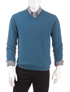 Weatherproof Blue Pull-overs Sweaters