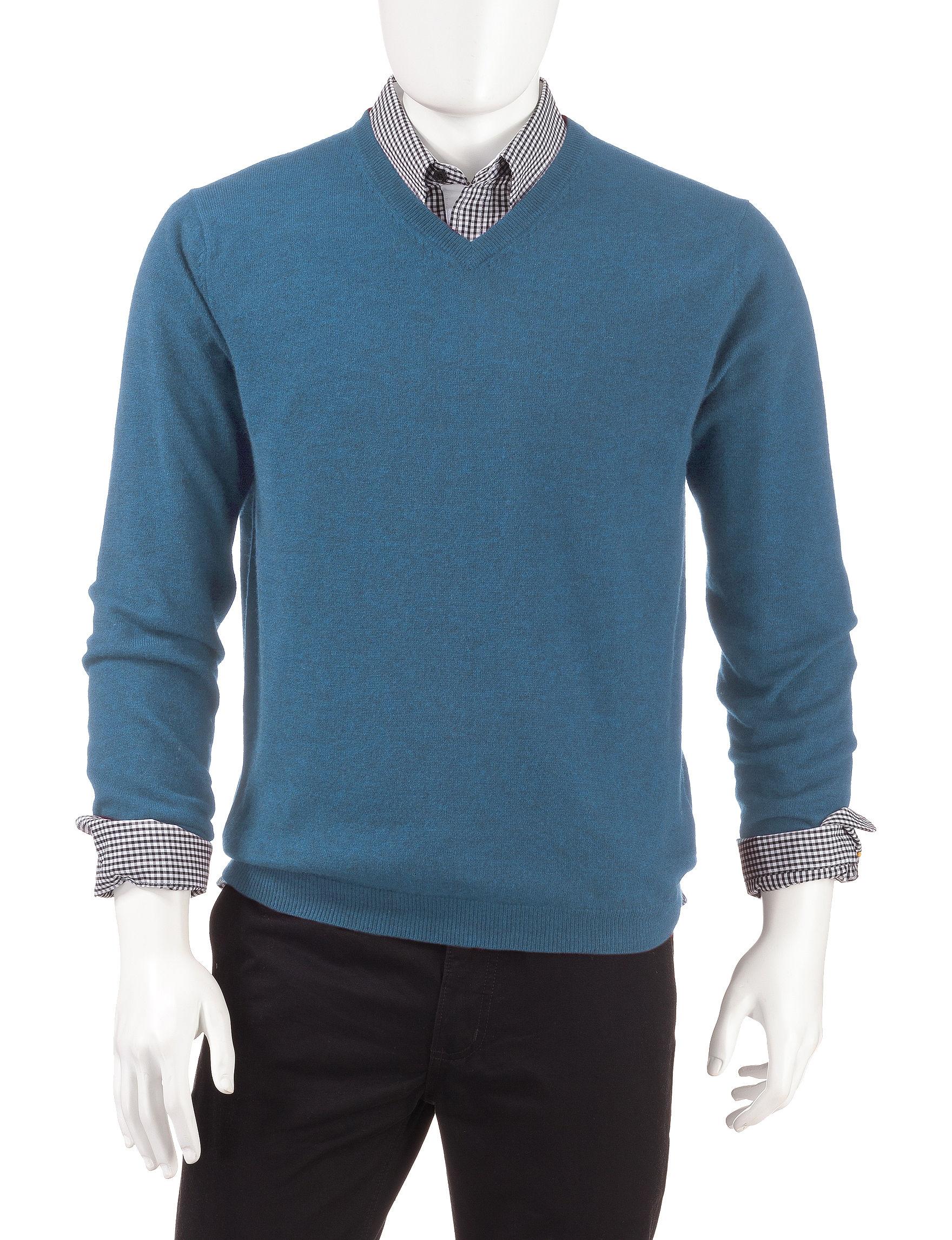 Weatherproof Blue Pull-overs Sweaters