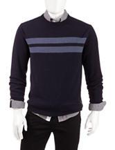 Weatherproof Chest Stripe Merino Cashmere Sweater