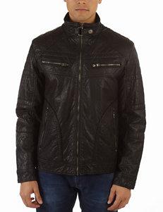 New Era Faux Leather Moto Jacket