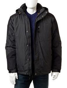 Izod Black / Dark Grey Insulated Jackets