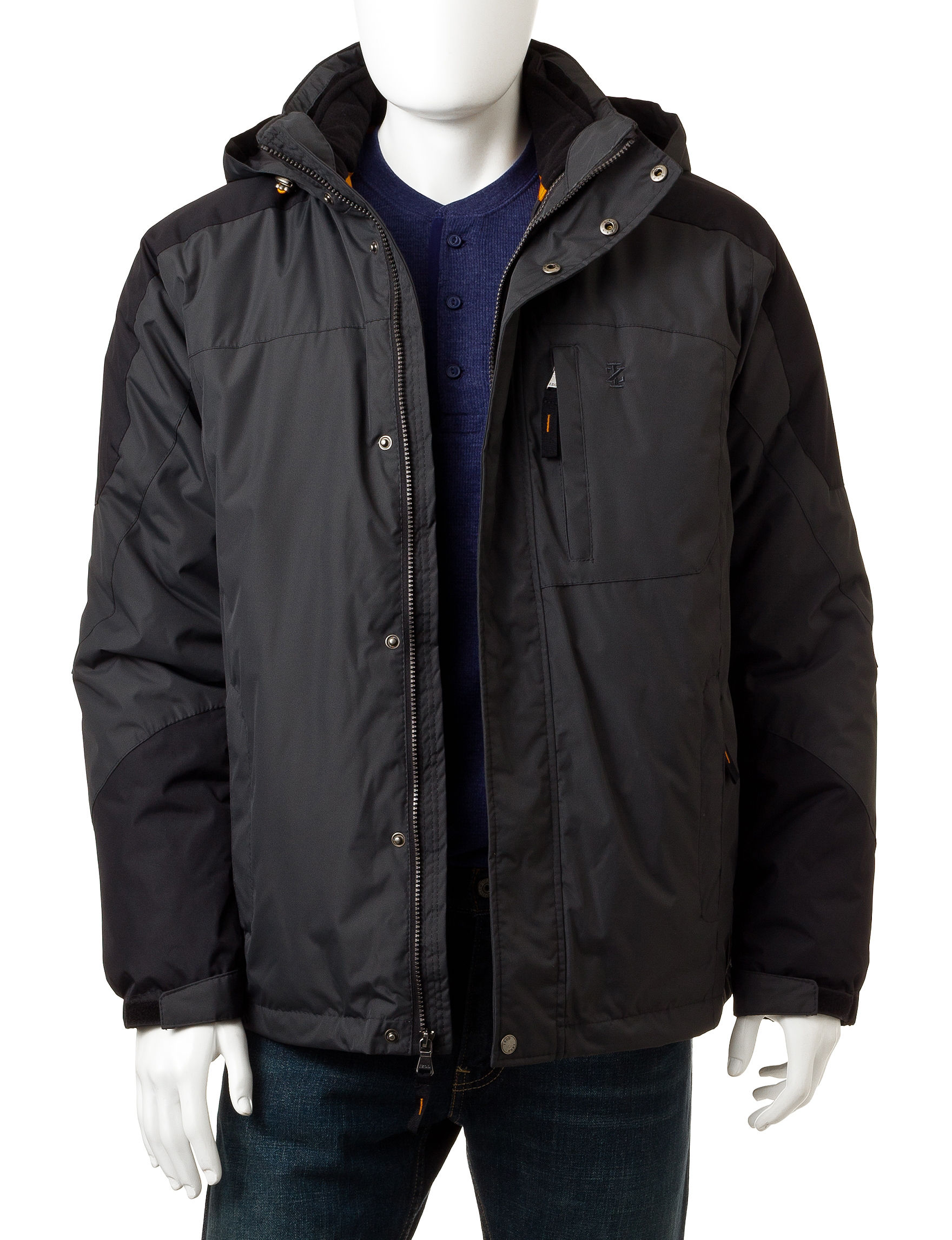 Izod Black / Dark Grey Insulated Jackets