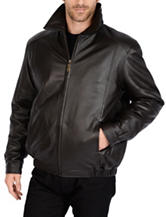 Excelled Big & Tall Lamb Leather Bomber Jacket