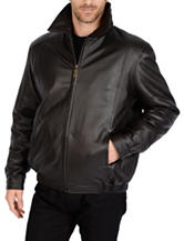 Excelled Tall Lamb Leather Bomber Jacket