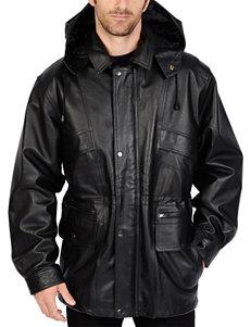 Excelled Big Leather Parka Jacket