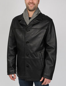 Excelled Big & Tall Genuine Leather Car Coat