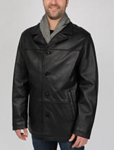 Excelled Big Leather Car Coat