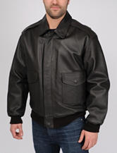 Excelled Big & Tall A-2 Leather Bomber Jacket