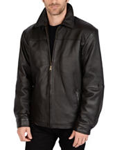 Excelled Big & Tall New Zealand Lamb Leather Classic Open Bottom Jacket