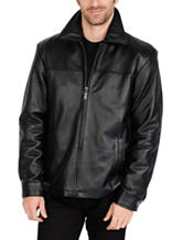 Excelled Tall New Zealand Lamb Leather Classic Open Bottom Jacket
