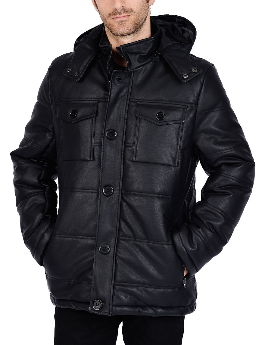 Excelled Black Puffer & Quilted Jackets